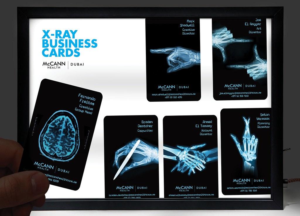 McCann Health Dubai - X-Ray Business Cards