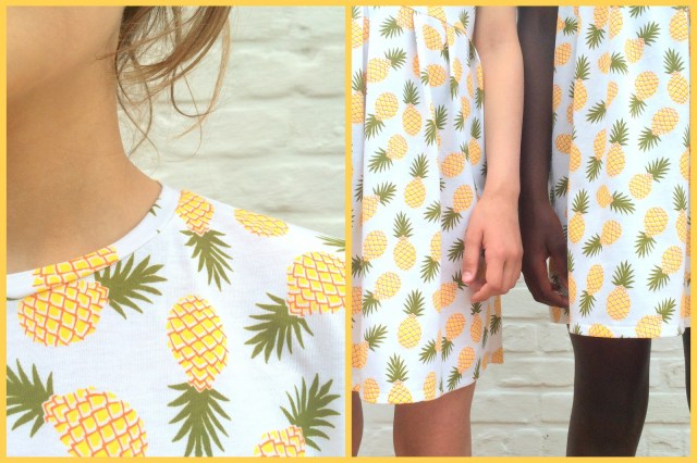 pineapple dresses (collage)
