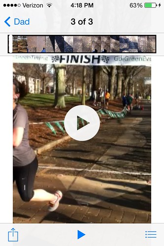 Accidental video instead of finish line photo
