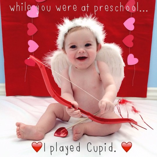 while you were at preschool, I played cupid