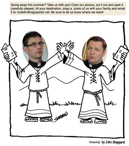 Frs. John and Steve:  Traveling Priests