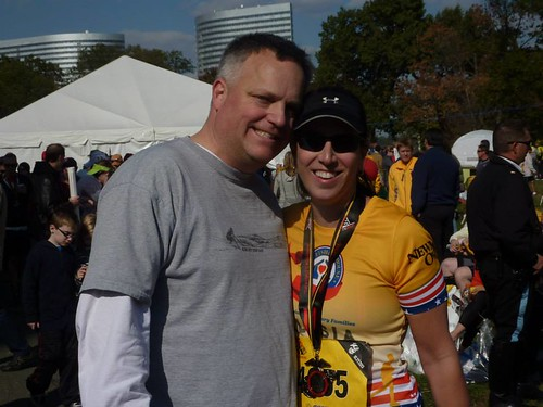 Big D & me at the finish