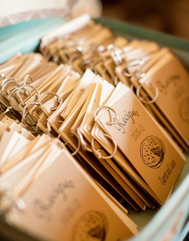 Wedding recipe card favors - free wedding printable from @offbeatbride