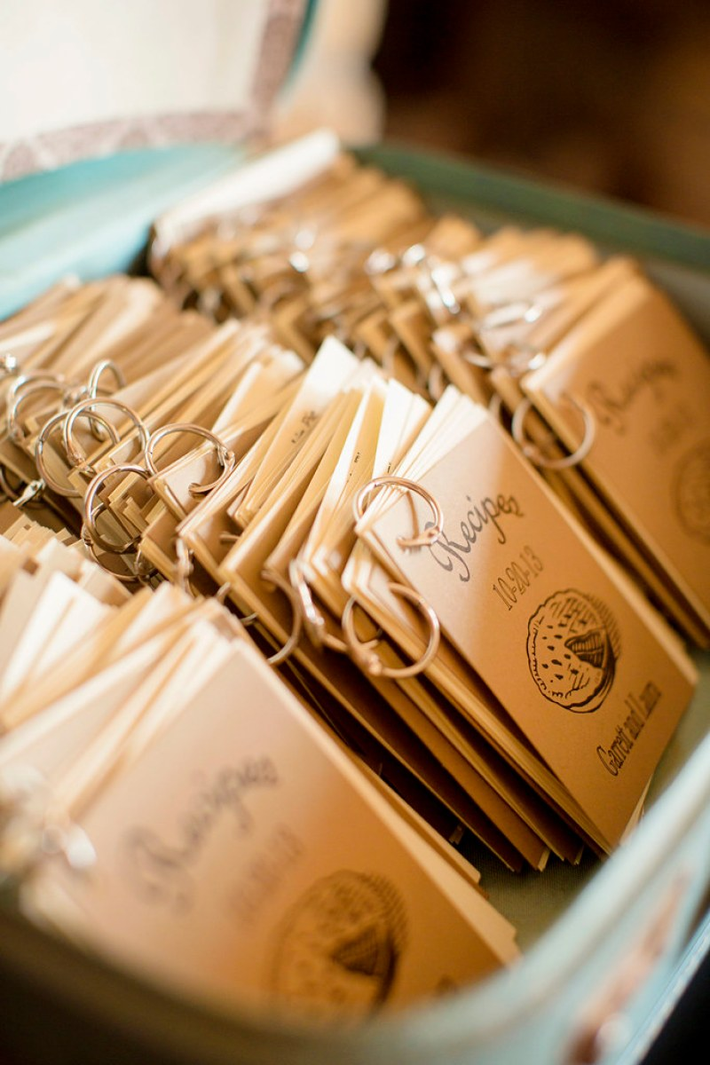 Check Out These Mini Recipe Book Wedding Favors Offbeat Bride