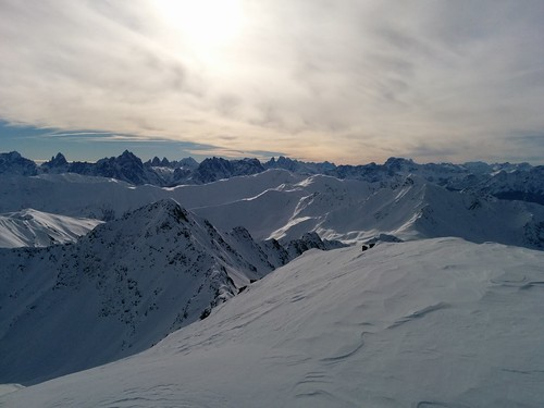 Gipfelausblick Rotlahner 2.735 m zu den Drei Zinnen