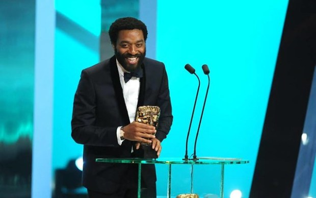 British actor Chiwetel Ejiofor receives award at BAFTA British Academy Film Awards at the Royal Opera House in London