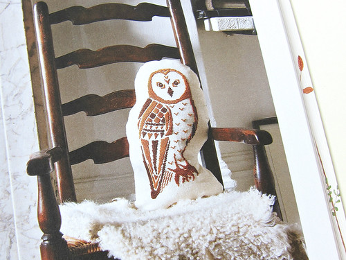 Owl Cushion from Storyland Cross Stitch