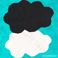 TFiOS Clouds to paper piece