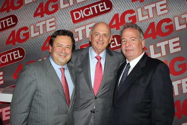 Luis Bernardo Pérez, Oswaldo Cisneros y Alberto Sosa (lanzamiento 4G LTE)