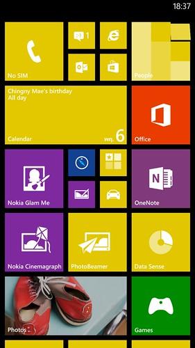 User Interface ของ Nokia Lumia 1320
