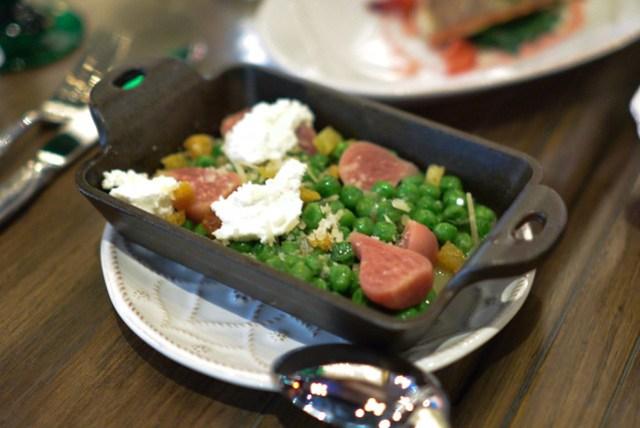 english peas & gold beets smoked sheep's milk ricotta