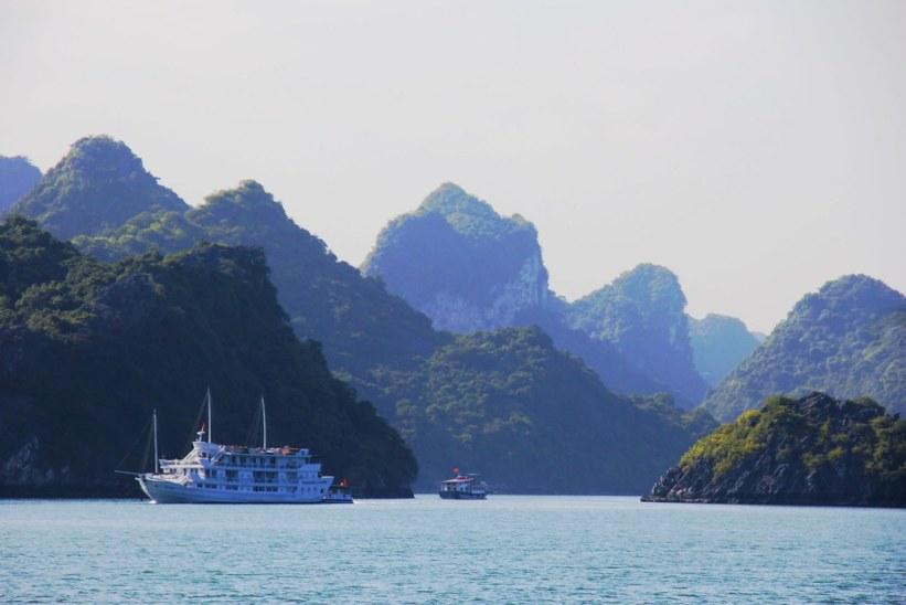 bådtur i Halong Bay