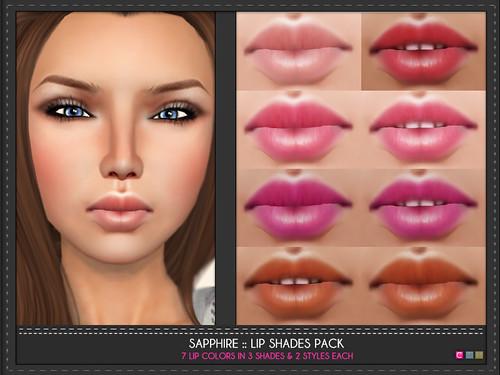 Sapphire Lip Shades Pack