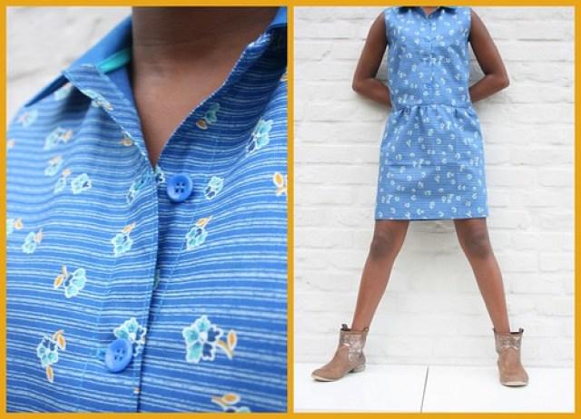 teenager dress (detail buttons)
