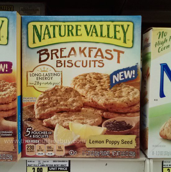 Nature Valley Lemon Poppy Seed Breakfast Biscuits