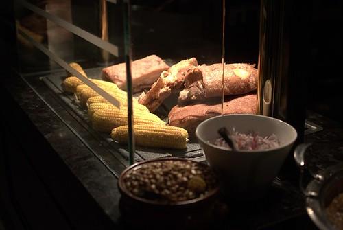 Chicharrón de chancho, cancha & salsa criolla
