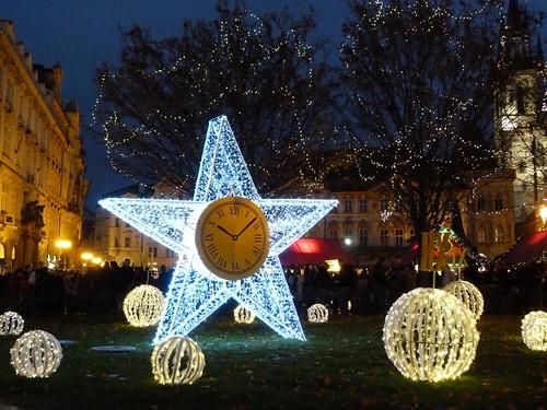 Decoración navideña de Praga