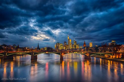 Blue Hour - Frankfurt - Nikon D800E & Rokinon Shift & Tilt 3,5/24mm