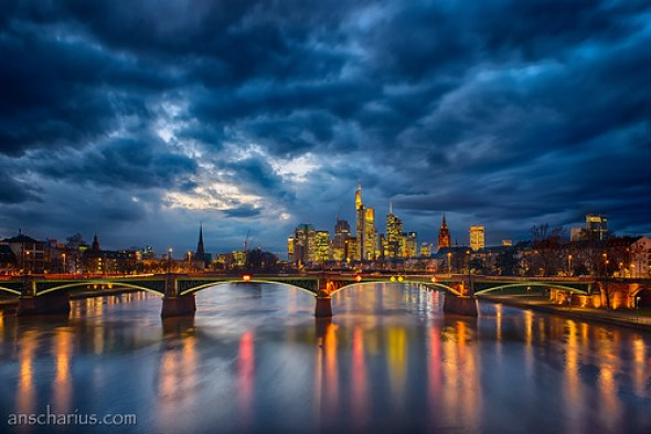 Blue Hour - Frankfurt - Nikon D800E & Rokinon Shift & Tilt 3,5/24mm
