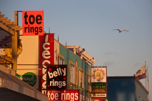 Toe Ring and Belly Ring Signs in Venice Beach, California