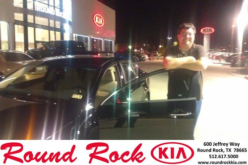 Thank you to Daniel Arthur on the 2013 Kia Optima from Fernando Fernandez and everyone at Round Rock Kia! by RoundRockKia