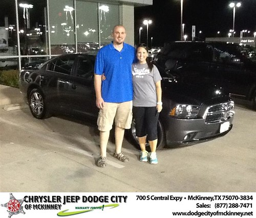 Thank you to Eric Groh on the 2013 Dodge Charger from Joe Ferguson  and everyone at Dodge City of McKinney! by Dodge City McKinney Texas