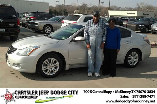Thank you to William & Opal Rhine on your new 2012 #Nissan #Altima from Bobby Crosby and everyone at Dodge City of McKinney! by Dodge City McKinney Texas