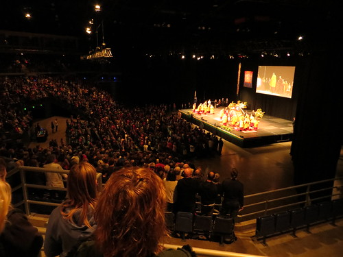 dalai lama takes the stage