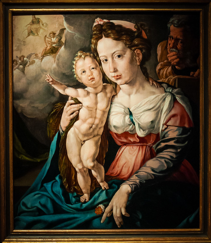 The Holy Family, Der Heilige Familie, c1503-1559, Jan Cornelisz Vermeyen, Rijksmuseum, Amsterdam.