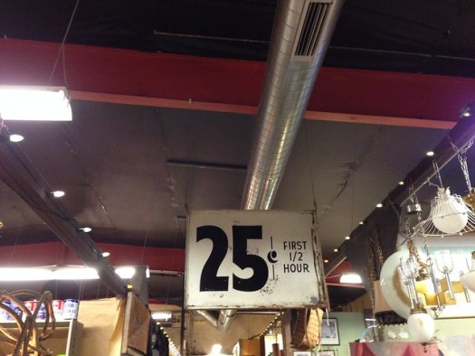 25 Cents Sign at Kudzu Antiques, Atlanta