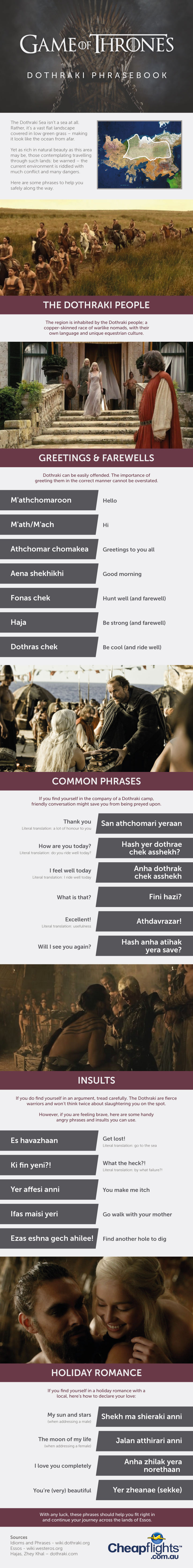 Game of Thrones: Dothraki Phrasebook