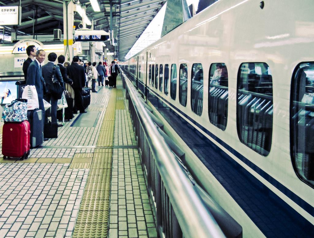A Bullet Train to Kyoto at Tokyo Station