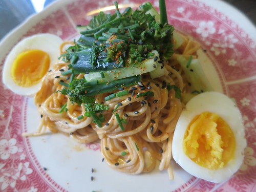 Chilled spicy sesame noodles