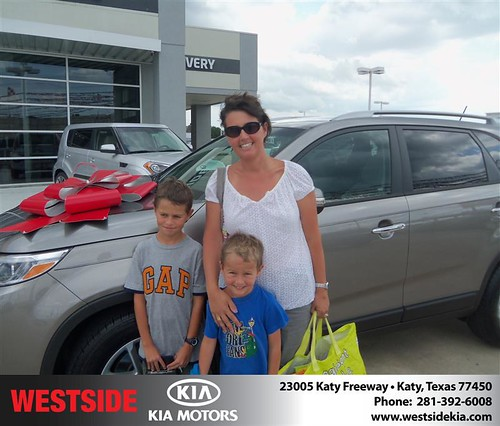 Westside Kia would like to say Congratulations to Jean Allen on the 2014 Kia Sorento by Westside KIA