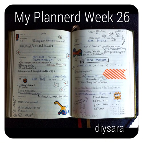 My Plannerd Week 26 by DIY Sara