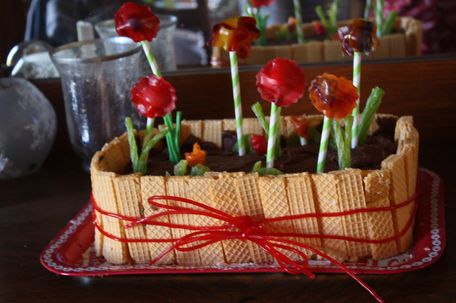 The much anticipated window box garden cake