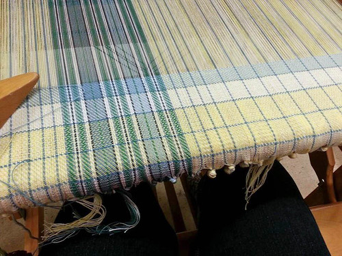 Cotton tea towel handweaving