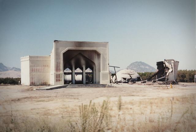 Burnt mosque