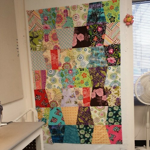 Quilt top #2! #blanketcharity #thelinusconnection #Singer301A