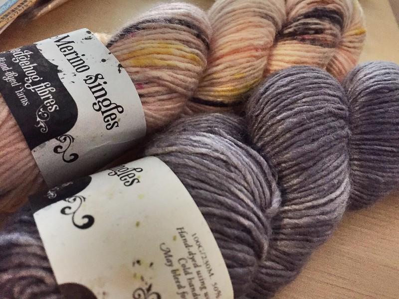 Hedgehog Fibres Silk/Merino singles - 到着!!! #yarn #hedgehogfibres