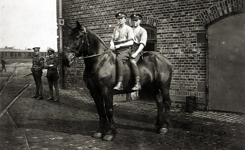 Mounted Soldier. Cologne c1914-1918