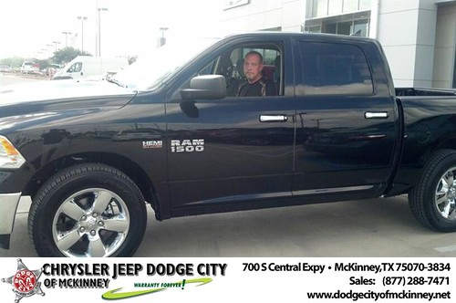 Thank you to Brett Robins on your new 2014 #Ram #1500 from Bobby Crosby and everyone at Dodge City of McKinney! #NewCar by Dodge City McKinney Texas