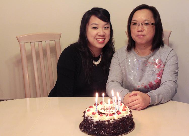 birthday girls and cake