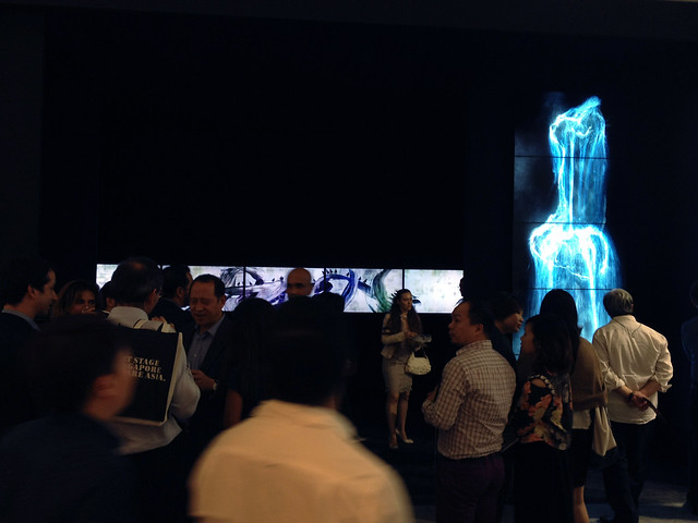 People at Ikkan Gallery, Art Stage 2014