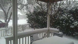 view from my porch is snow