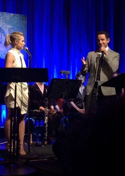 "Kristen Bell and Santino Fontana sing ""Love Is An Open Door"" from Disney's Frozen Live"