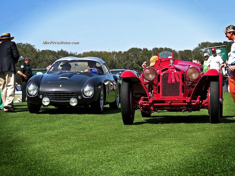 Alfa Romeo 8C Monza and Ferrari 250 GT Tour de France by Zagato