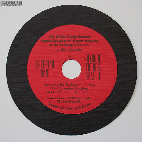closeup - red record