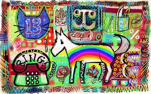 ride a pony rainbow