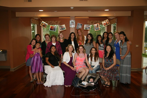 Group photo with ladies at my bridal shower